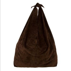 NWT! THE ROW Suede Bindle Knot Hobo Bag